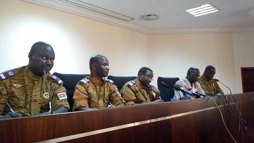 Les animateurs de la conférence de presse © Burkina24