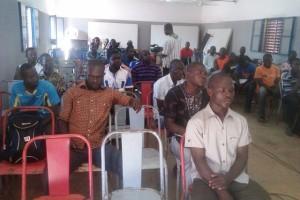 Quelques victimes et représentants de victimes présents à l'assemblée générale.