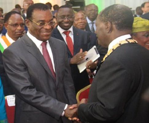 M. Ouattara a devancé Pascal Affi N'Guessan (9,29%), candidat du Front Populaire Ivoirien (FPI), fondé par Laurent Gbagbo. Affi N'Guessan était présent à la cérémonie de prestation de serment du Président Ouattara.