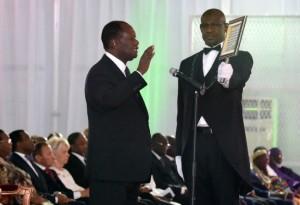 Mardi 3 novembre 2015. Abidjan. Investiture du président de la République Alassane Ouattara, au palais présidentiel au Plateau.