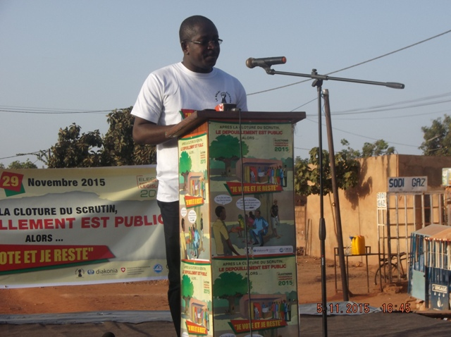 Me Guy Hervé Kam, porte-parole du Balai Citoyen