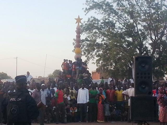 Les militants lors du meeting à Kombissiri