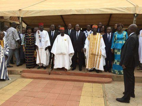Alassane Ouattara a eu un tête à tête avec le Mogho Naba