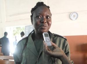 Drabo Hortense, en service à la maco et bénéficiaire de la formation