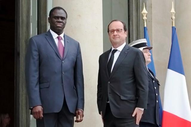 Michel Kafando participe à la COP21 en France (Photo : Direction de la Communication de la Présidence du Faso)