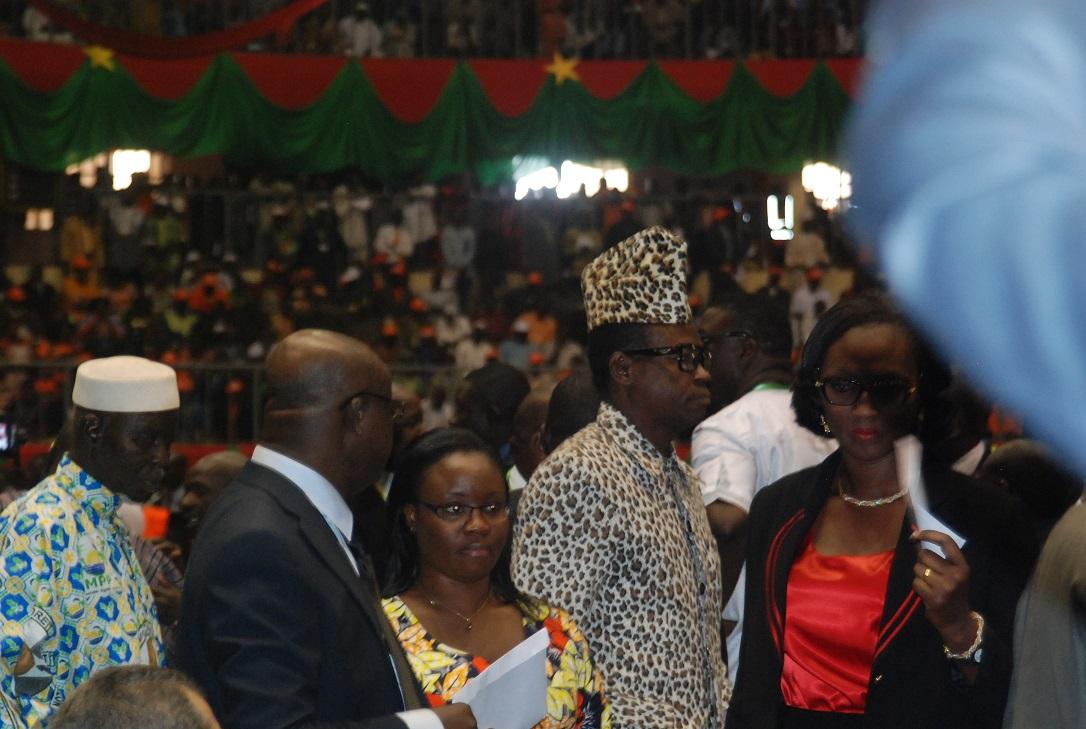 Le sosie de Mobutu au Palais des sports de Ouagadougou