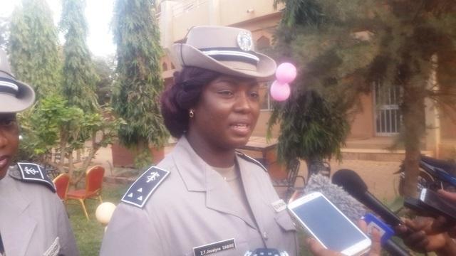 Commissaire Dabiré Jocelyne, vice-présidente de l'association des fonctionnaires féminins de la Police Nationale