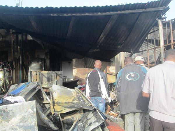 Etat du magasin electro-ménager après l'incendie