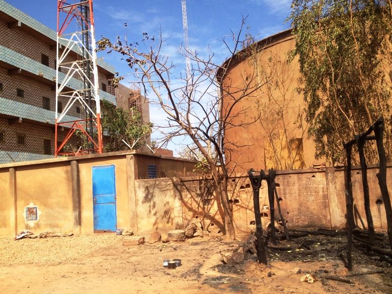 L'incendie a eu lieu juste derrière l'agence ONEA au quartier Gounghin.