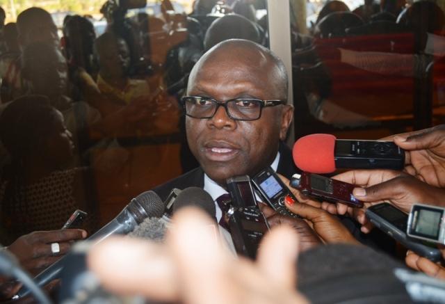 Le ministre de la communication et des relations avec le Parlement, Remi Dandjinou.