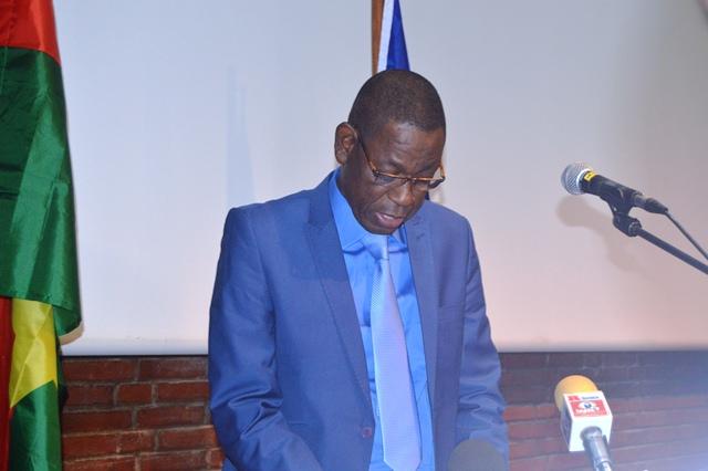 Le ministre en charge de l'environnement au cours de son allocution