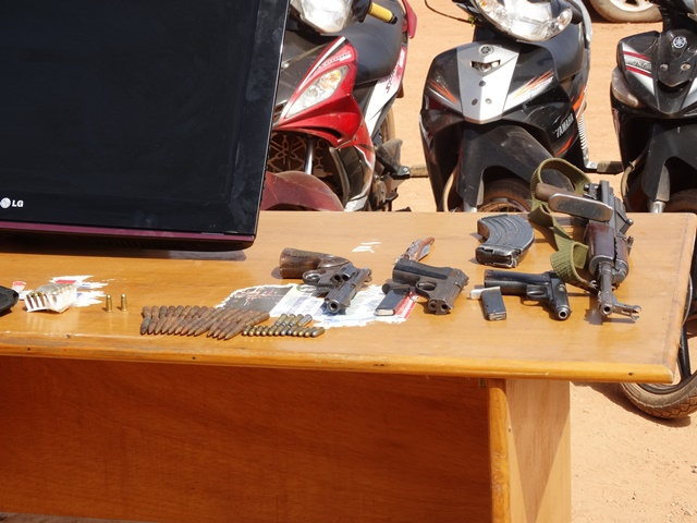 Les armes des présumés délinquants