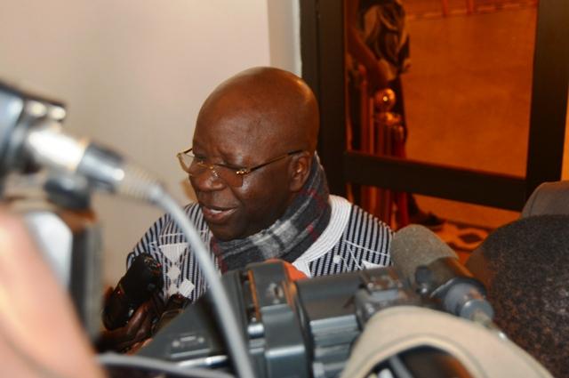 Simon Compaoré, ministre d'Etat, ministre de l'administration territoriale, de la décentralisation et de la sécurité intérieure.