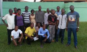 Les membres de l'Amicale des Etudiants Burkinabé de l'Ecole Nationale Supérieure de Statistique et d'Economie Appliquée, AMEB-ENSEA.