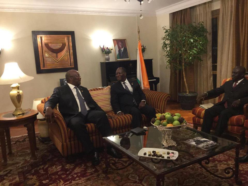 Lors de l'entretien entre Roch Kaboré et Alassane Ouattara © Présidence Côte d'Ivoire