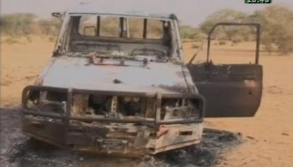 L'état du  véhicule après l'attaque