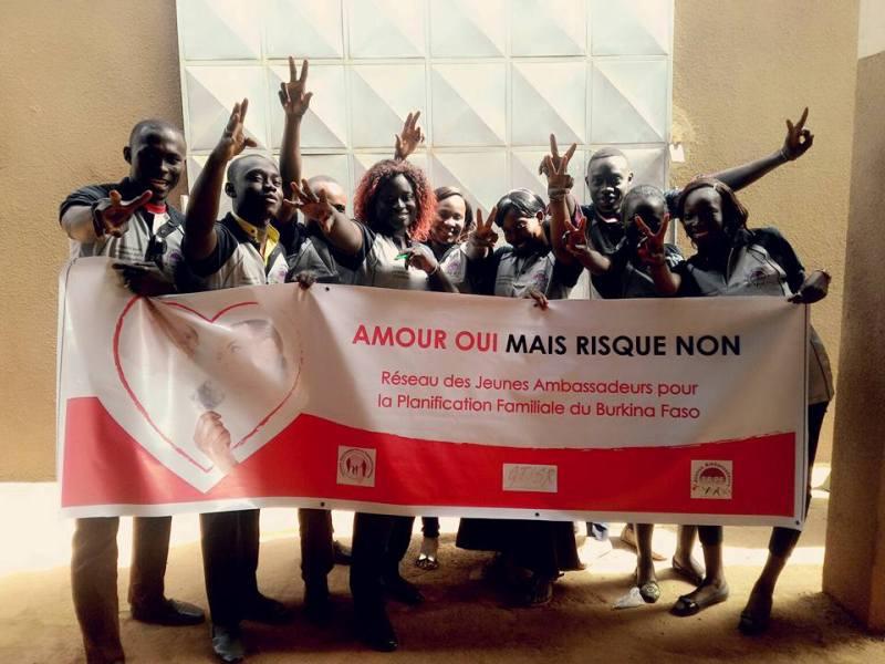 Réseau des jeunes ambassadeurs pour la PF du Burkina Faso.