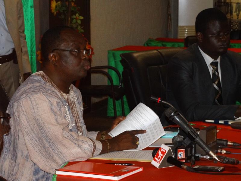 Me Barthélémy Kéré, Président de la CENI.