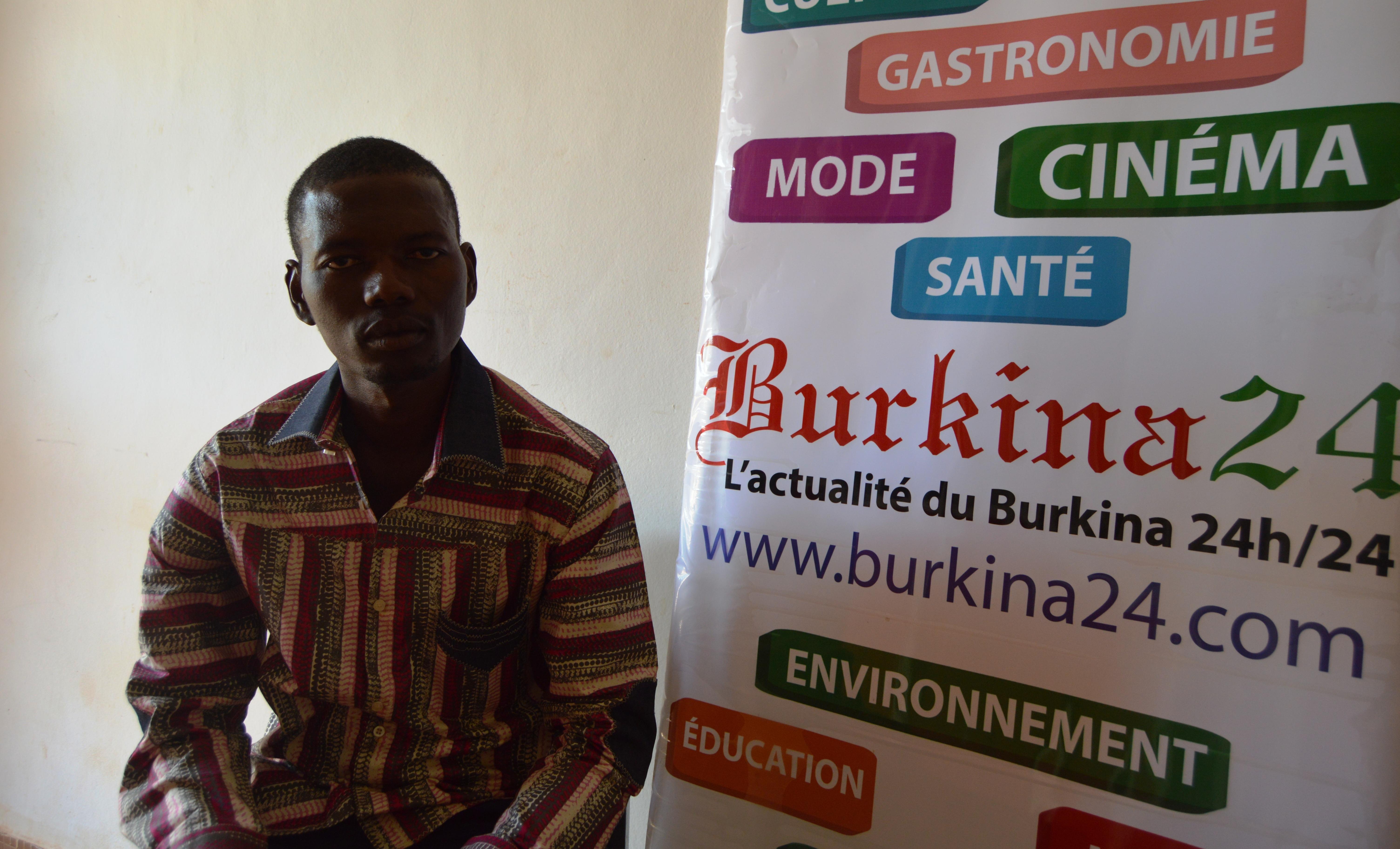 Hervé Tapsoba, porte-parole des militaires radiés dans les locaux de Burkina 24