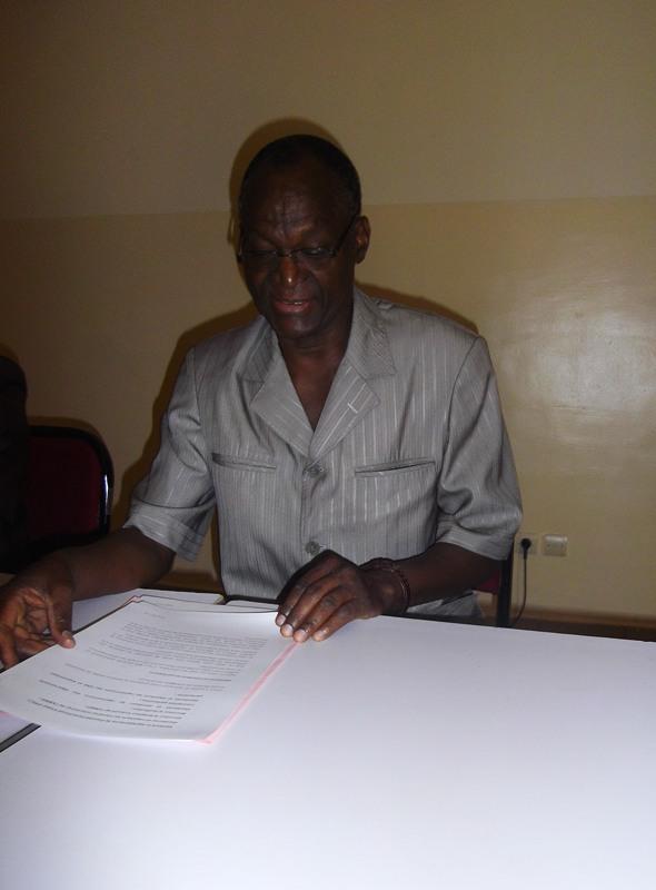 Le Président national de l'ABBEF, Zitibmi Albert Yaméogo