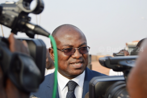 Le minsitre des infrastructures, Eric Wendmanegda Bougouma