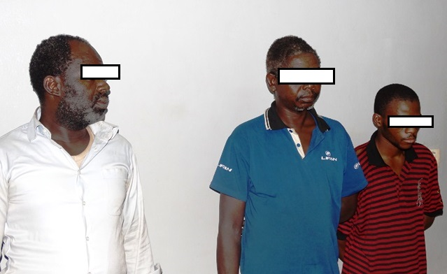 Les trois complices interpellés au cours de l'enquête policière.