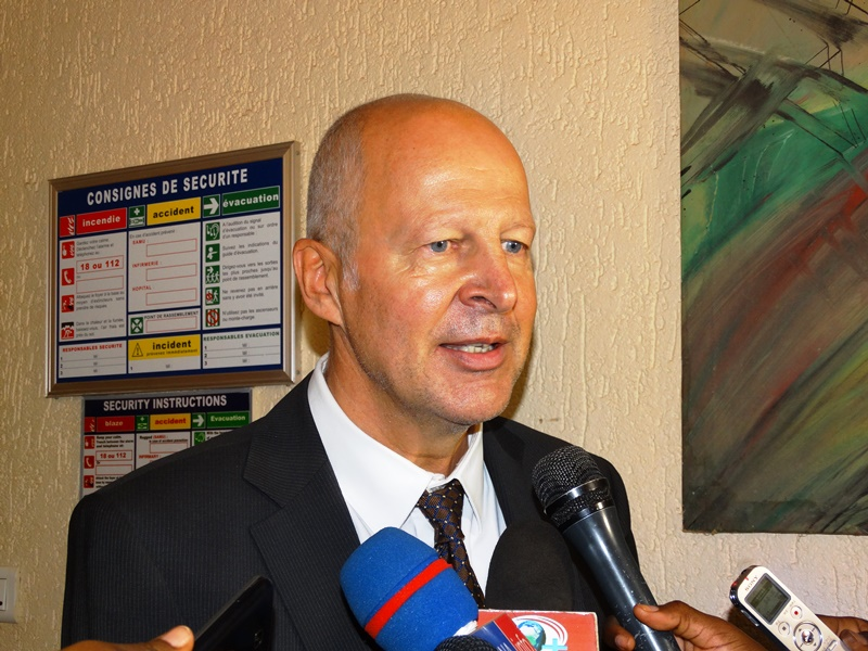 Jean-Bernard Dubois, chargé de la coopération à l'ambassade de Suisse au Burkina.