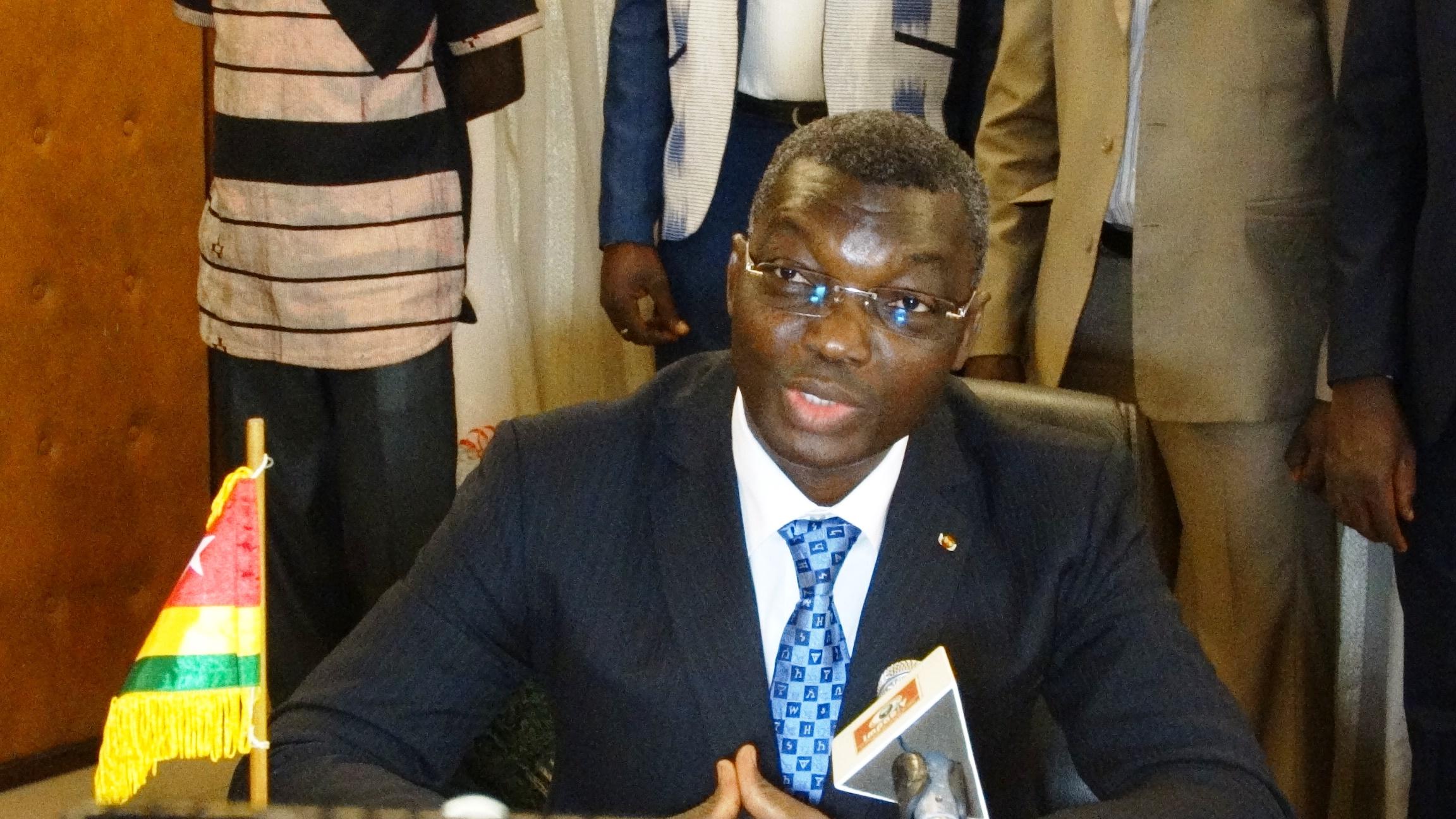 Le colonel Damehame Yark, ministre de la sécurité et de la protection civile du Togo. © Burkina24