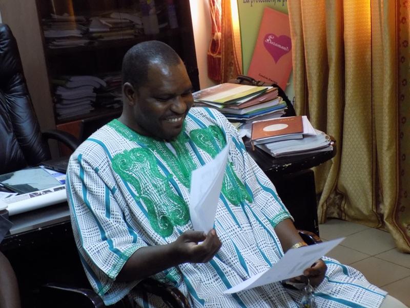 Seydou Barro, le Directeur régional de la santé du Centre-Ouest.