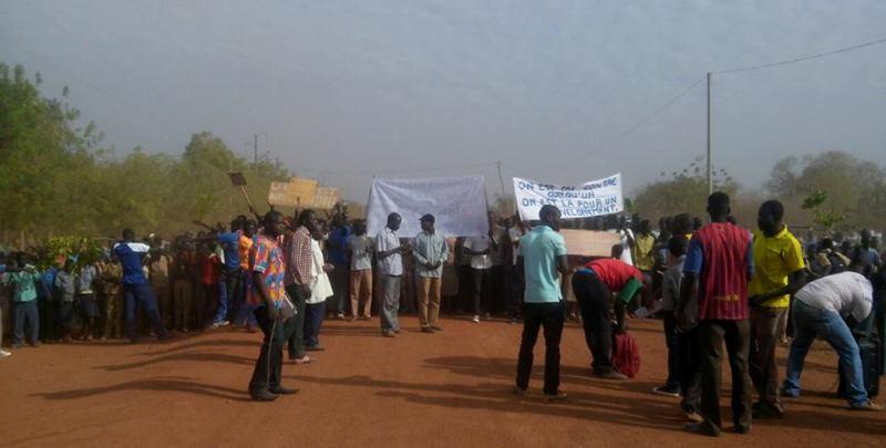 Les manifestants ce 11 mars (DR)