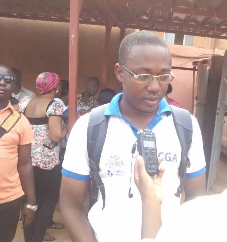 Frédéric Zoungrana, porte-parole des bénéficiaires du financement