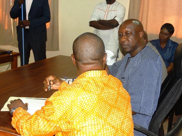 Le PM demande des explications à Amado Ouédraogo, directeur de l'ONEA