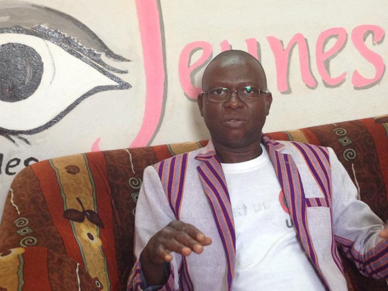 Le coordonnateur de « L'œil des Jeunes », Salbré Hamado
