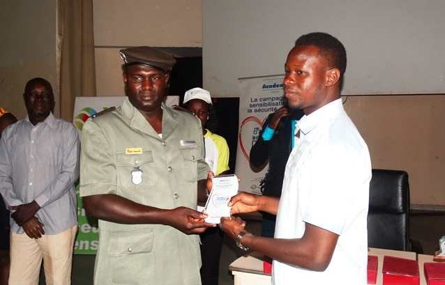 La police municipale a été récompensée pour ses efforts en matière de sécurisation routière.