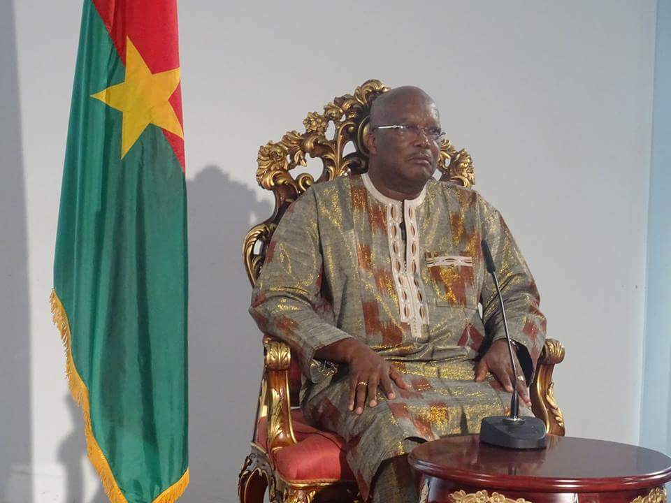 Roch Kabore face à la presse ce 3 avril 2016 à Bobo-Dioulasso
