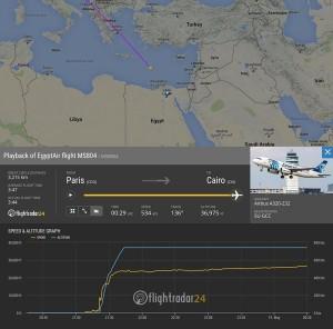 Le dernier contact avec l'appareil s'est produit à 2 h 30, heure du Caire et de Paris (et non à 2 h 45 comme l'indiquait précédemment la compagnie), précise encore Egyptair. L'atterrissage au Caire était prévu à 3 h 15.