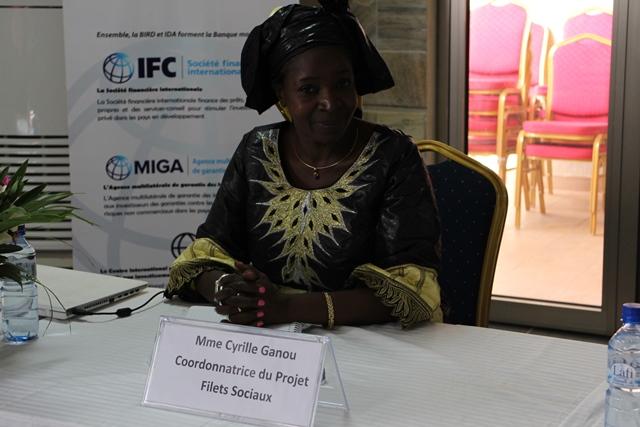 Cyrille Ganou, coordonatrice du projet filet sociaux