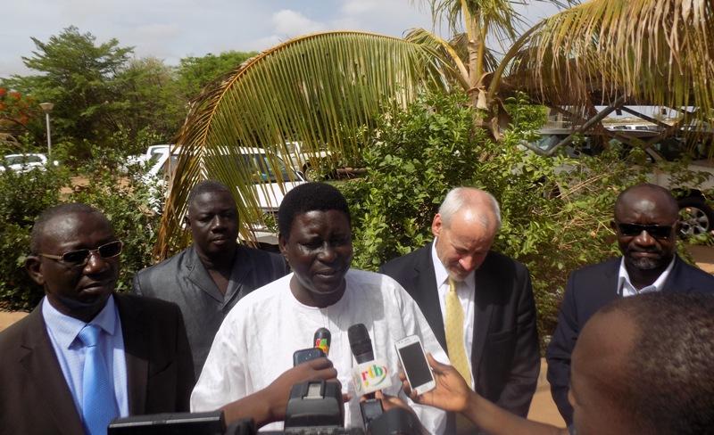 Dr Robert Ouédraogo, SG du Ministère de l'agriculture (Micro).