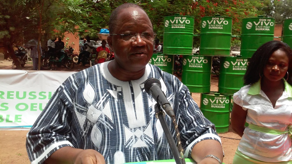Le DG de Vivo Energy Burkina pendant son allocution