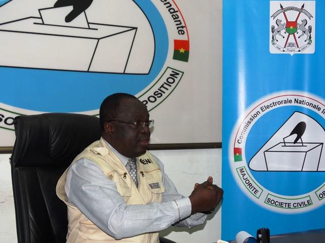 Me Barthélémy Kéré, président de la CENI : « La sécurité est là pour prêter main forte. Elle ne peut pas tout faire ». © Burkina24