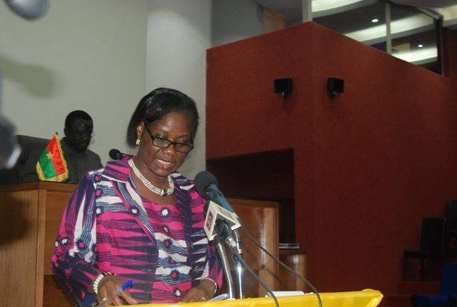La ministre de l'économie, des finances et du développement Rosine CoulibalySori
