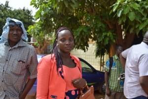 Mariama Natama, représentante des femmes bénéfiaciaires du PSUT