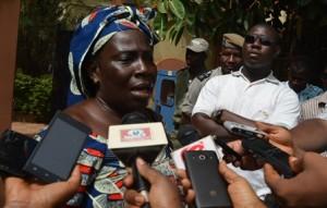 Odette Bonkoungou, transformatrice de beurre de karité et bénéficiaire du PSUT