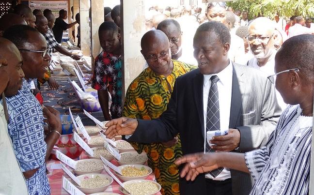 Le ministre Filiga Michel Sawadogo (cravate) était présent à la foire