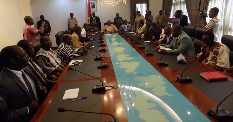 L'opposition burkinabè a rencontré le Président du Faso, le 7 juillet 2016.