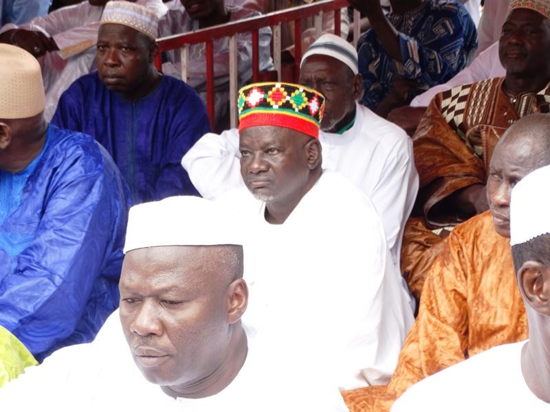 Le Mogho Naba Baongho (milieu) a marqué de sa présence la cérémonie d'adoration.
