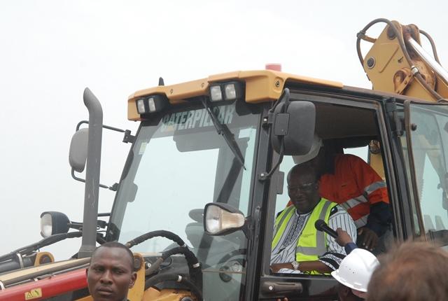 Le Président du Faso de donner le clap de lancement des travaux