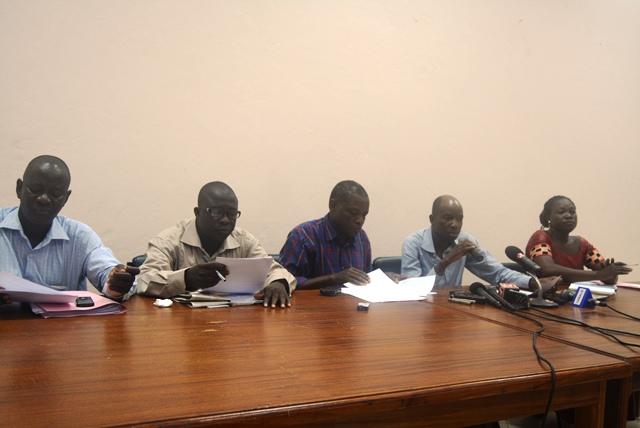 Les membres du bureau du SYNATIC lors de l'assemblée générale