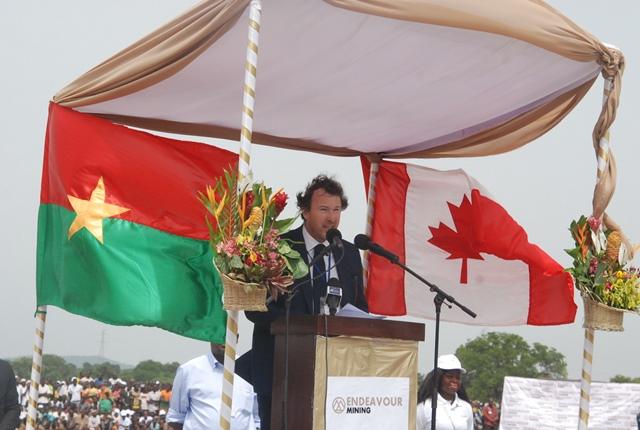Président directeur général (PDG) d'Endeavour mining, Sebastien de Montessus