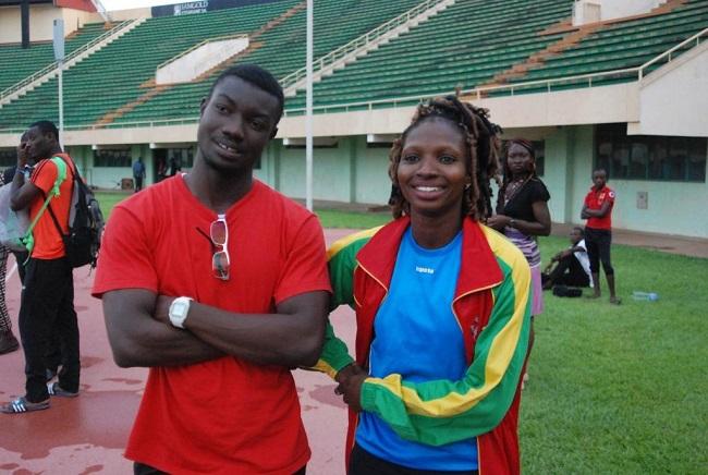 Fabrice Zango (avec Diane Tiendrébéogo) pourrait être le flambeau de l'athlétisme burkinabè